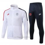 Tuta da Track del Paris Saint-Germain 2019 2020 Bianco